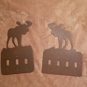 Metal moose light switche cover